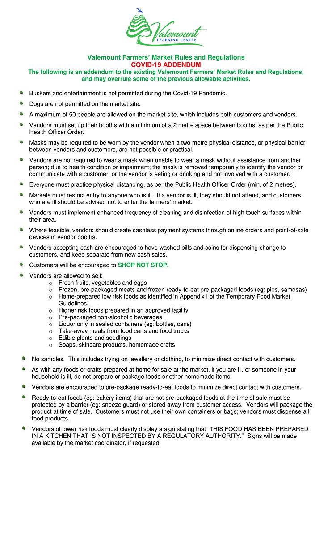 Valemount Farmers Market COVID Rules_Reg