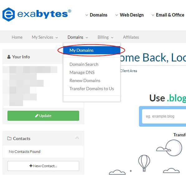 Exabytes step 1