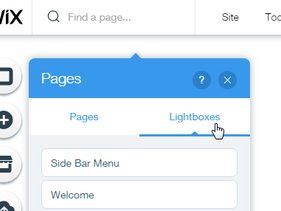WiX website - Lightboxes