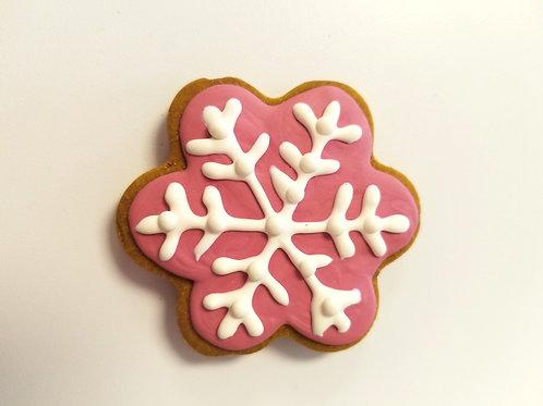 Valentine's Snowflake - Organic Pumpkin & Peanut Butter