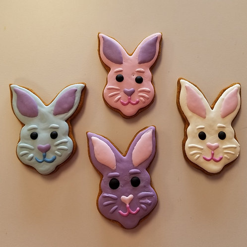Cute Bunny Faces - Organic Pumpkin & Peanut Butter