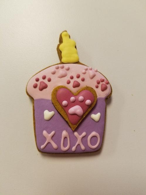 Valentine Cupcake Cookies - Organic Pumpkin & Peanut Butter