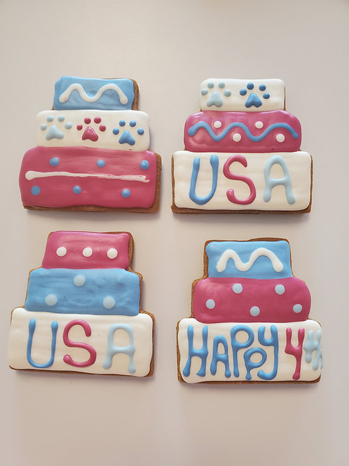 Red White & Blue Layer Cake Cookies