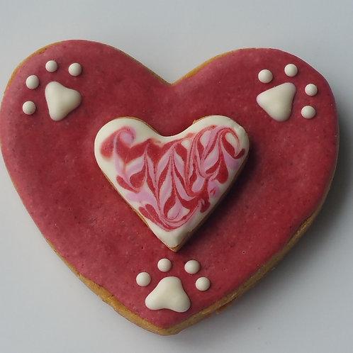 Love My Dog Heart - Peanut Butter Pumpkin