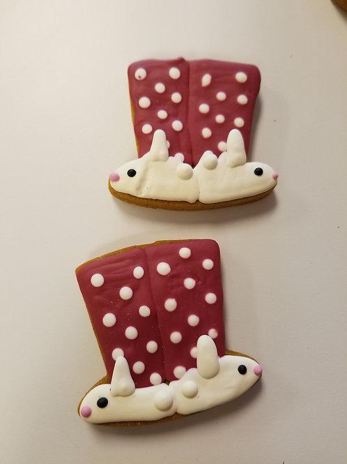 Christmas Pajamas & Bunny Slippers - Organic Pumpkin & Peanut Butter WS