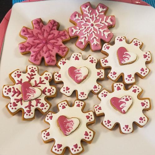 Valentine Snowflakes - Peanut Butter & Pumpkin