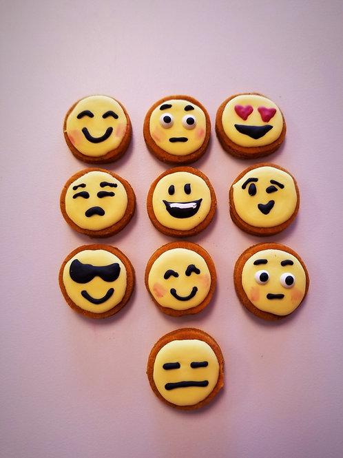 Small Emoji's (dozen) - Organic Pumpkin & Peanut Butter