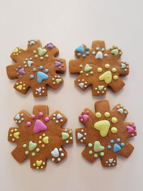 Paw Print Snowflake - Organic Pumpkin & Peanut Butter