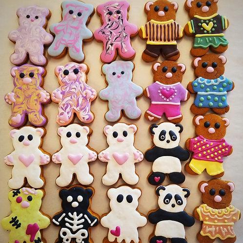 Super Cute Dozen of Small Bears - decorated for the season
