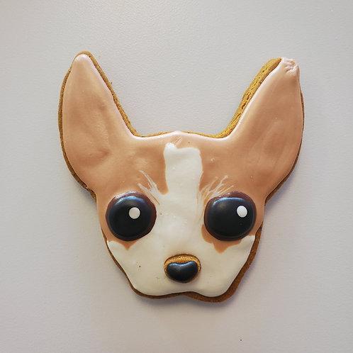 Cute Chihuahua Cookie - Organic Pumpkin & Peanut Butter