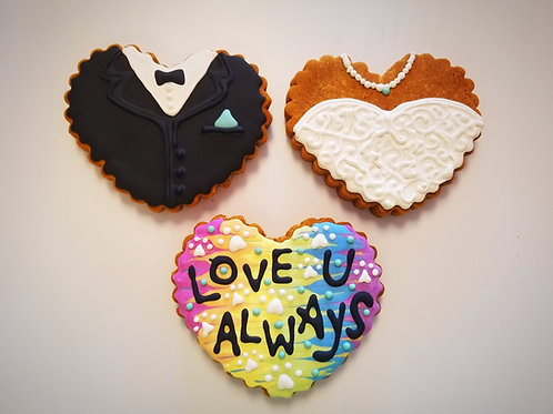 Wedding Cookies (Set of 3 cookies) - Organic Pumpkin & Peanut Butter