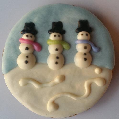 Snowman Circle Treat - Peanut Butter Pumpkin