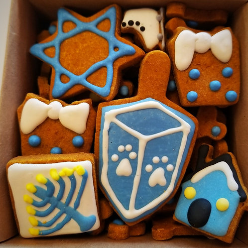 Hanukkah Mini Bone Box - Organic Pumpkin & Peanut Butter