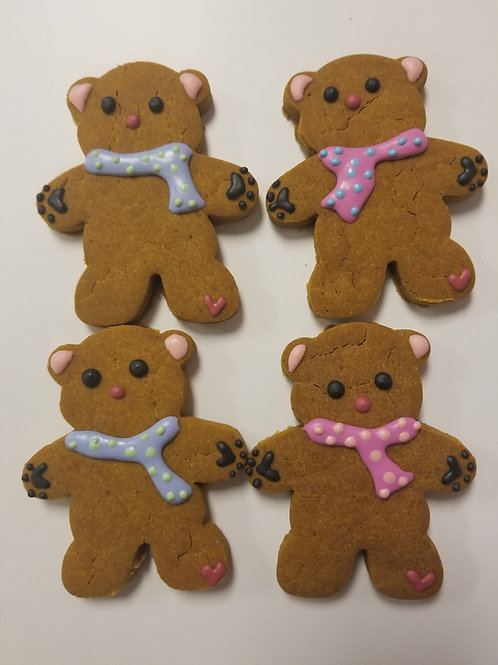 Simply Scarf Teddy Bears - Organic Pumpkin & Peanut Butter