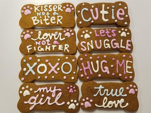 Valentine Conversation Large Bones - Organic Pumpkin & Peanut Butter