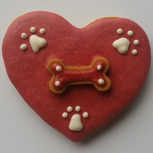 Love My Dog Heart - Peanut Butter Pumpkin WS
