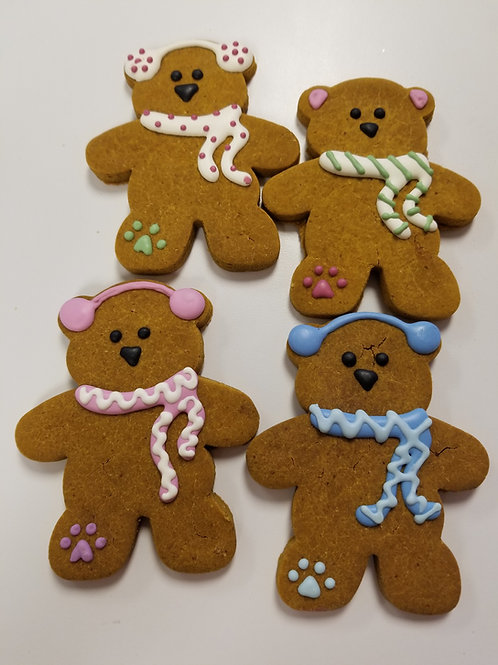 Snowy Teddy Bears - Organic Pumpkin & Peanut Butter