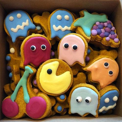 Pac-Man  Mini Bone Box - Organic Pumpkin Peanut Butter