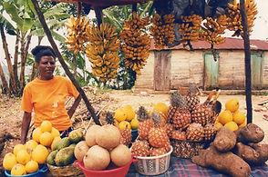 Haitian Woman Selling Produce