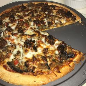 Sauteed Veggie & Eggplant Pizza