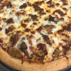 Sauteed Veggie & Eggplant Fry Pizza