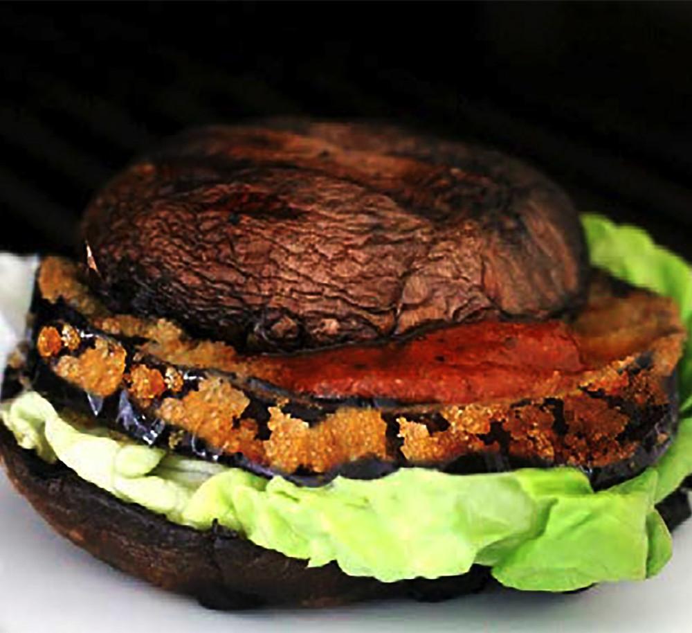 Grilled Portobello Eggplant Burger