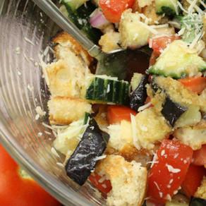 Eggplant, Tomato & Cucumber Salad