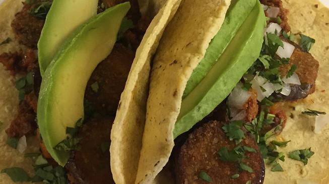 Dominex Eggplant Tacos El Pastor