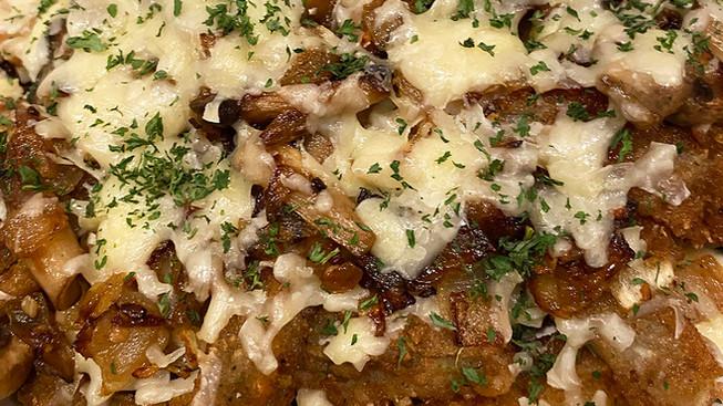 Mushroom & Gruyere Eggplant Frychos