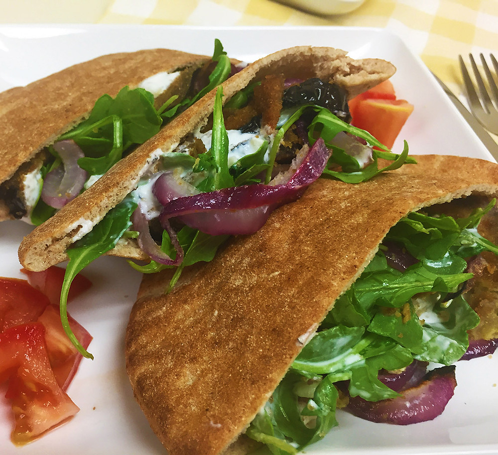 Dominex Eggplant Pita Sandwich