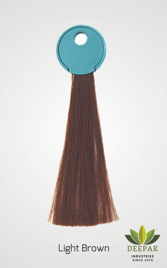 Result of Our light brown Henna Based hair color.