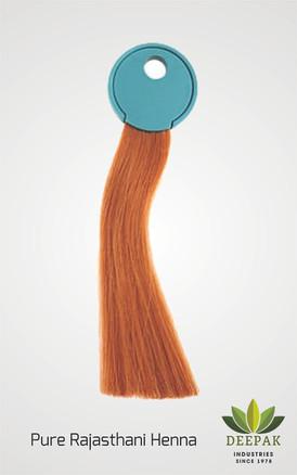 Sojat's Henna applied on White Human Hair