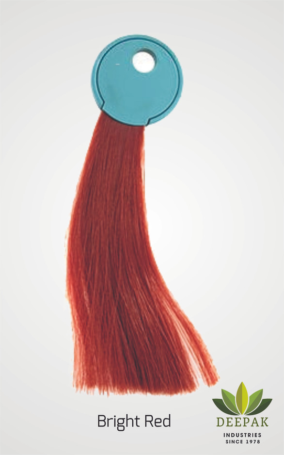 Result of Our Bright Red Henna Based hair color.