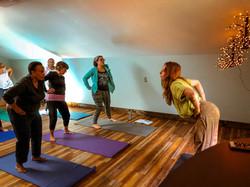 Annaliese leading Yoga