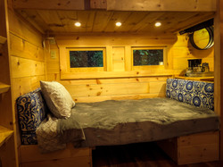 tiny cabin bed