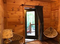 tiny cabin sitting