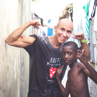 Sharing strength with my haitian brother