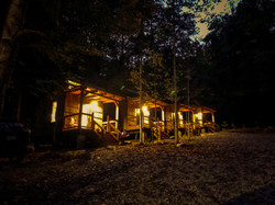 tiny cabins night