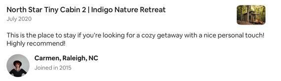 cozy getaway indigo