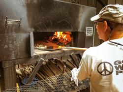 Wood fire pizza