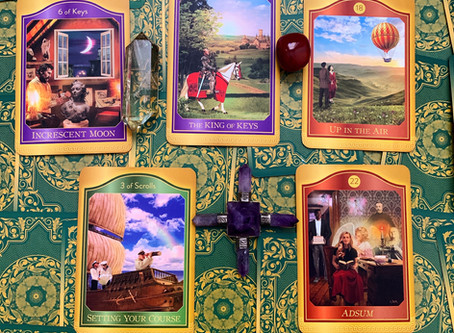 Weekly Tarot: Manifestation, Setting Your Course and Adsum (I am present)