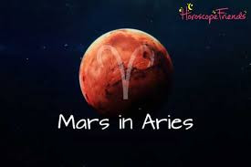 Martian / Combative energy - Mars in Aries. Anger.