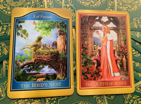 Weekly Tarot: 3 of Forces & Queen of Roses