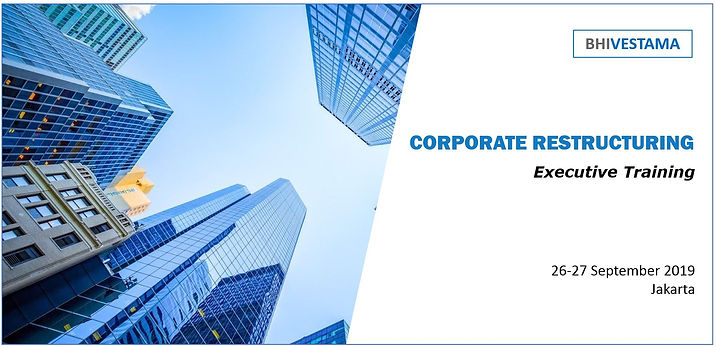 Flayer CORPORATE RESTRUCTURING Eventbrit