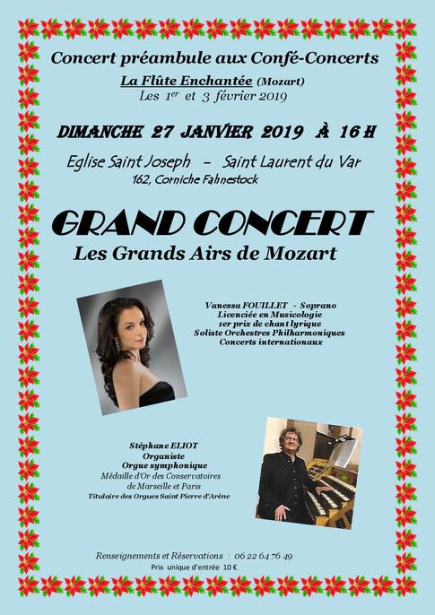 Affiche Concert Les Grands Airs de Mozar
