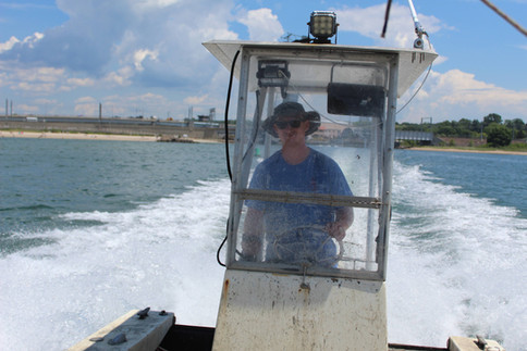 """The """"Marie Elizabeth"""" Heading Out to Haul Oysters"""