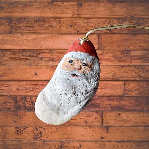 Santa Oyster Ornament