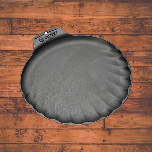 Cast Iron Scallop Serving Tray