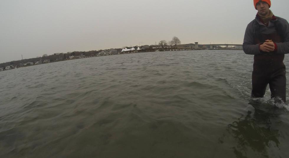 Tim Londregan Standing In the Niantic River