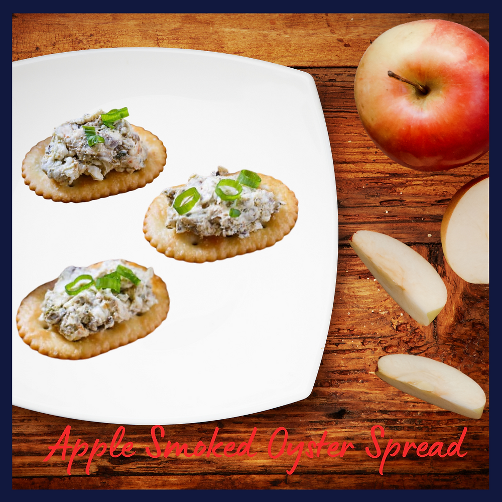 Apple Smoked Oyster Spread on crackers